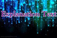 √ Explanation Text : Pengertian, Ciri, Tujuan dan Struktur Terlengkap